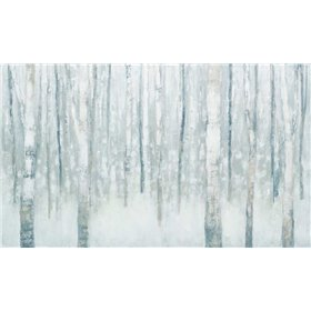 Birches in Winter Blue Gray