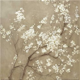 White Cherry Blossoms I Neutral Crop
