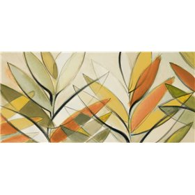 Autumn Palm Abstract Panel