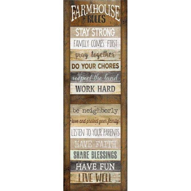 Farmhouse Rules Shutter
