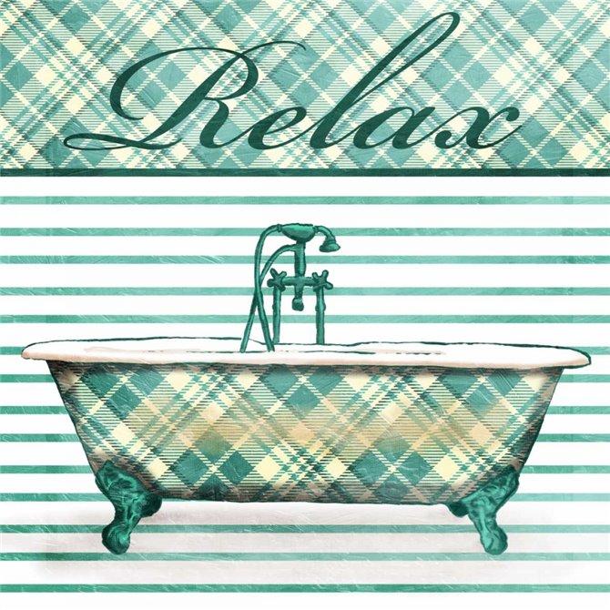 Relaxed Plaid Bath