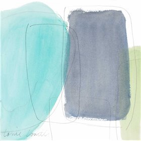 Teal and Grey Abstract I