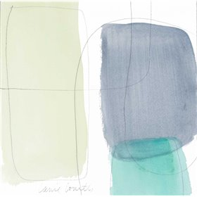 Teal and Grey Abstract II