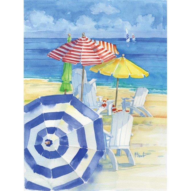 Watercolor Beach Vertical