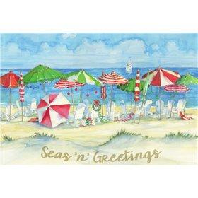 Holiday Beach Watercolor
