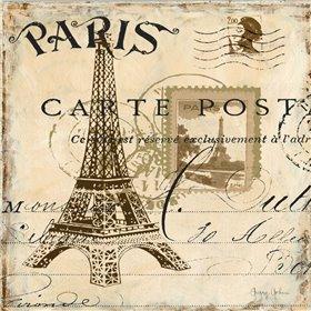 Paris Collage Sq I