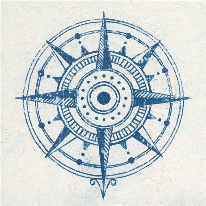Indigo Gild Compass Rose I