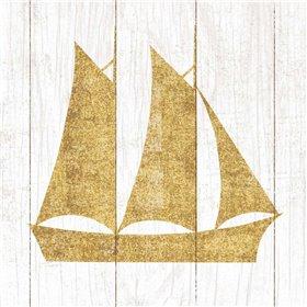 Beachscape V Boat Gold Neutral