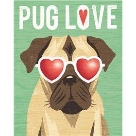 Beach Bums Pug I Love