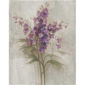 Purple Larkspur Garden on Grey