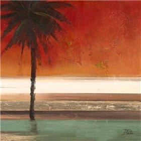 Red Coastal Palms Square II