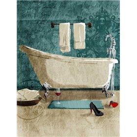 Teal Wine Bath