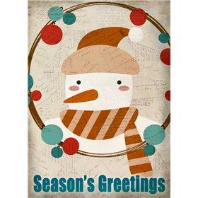 Seasons Greetings Snowman