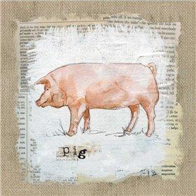Burlap Pig