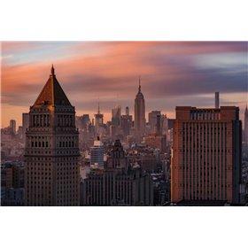Golden Light New York Low Clouds