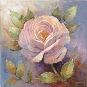 Roses on Blue IV Crop