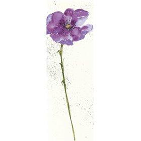 Mint Poppies I in Purple Crop