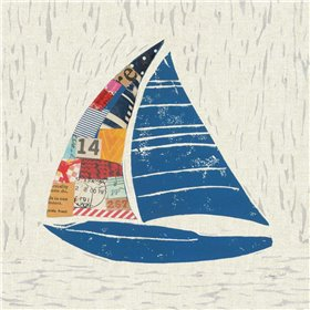 Nautical Collage IV on Linen
