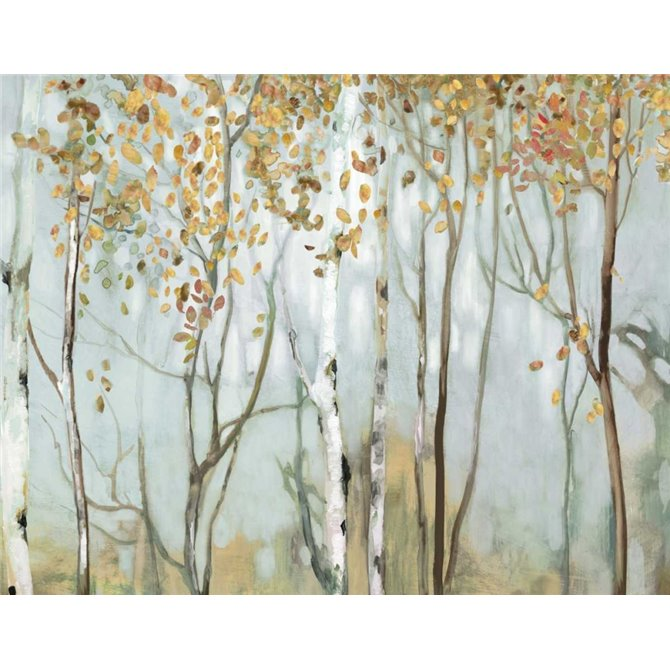 Birch in the fog II