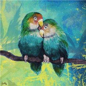 Tropical Birds In Love I