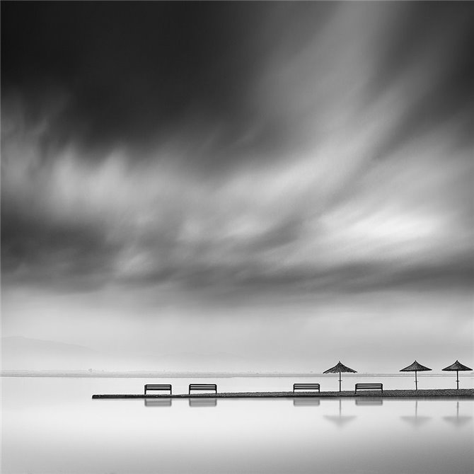 Digalekis - Four Benches and Three Umbrellas