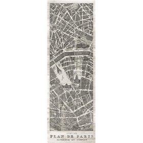 Plan de Paris Panel in Wood