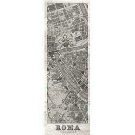 Roma Map Panel in Wood