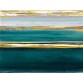 Parallel Lines on Teal