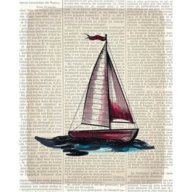 Newspaper Sailboat 4