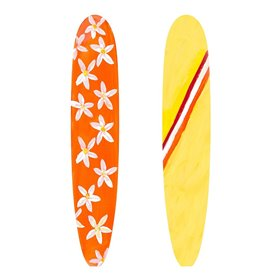 Orange and Yellow Surf Boards