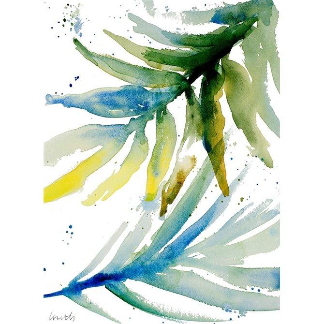 Blue Green Palm Fronds II