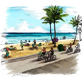 Boardwalk Scene in Color I