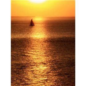 Sailboat at Sunset I