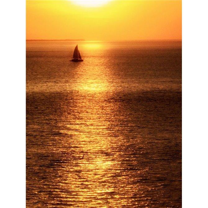 Sailboat at Sunset I