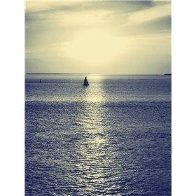 Sailboat at Blue Sunset
