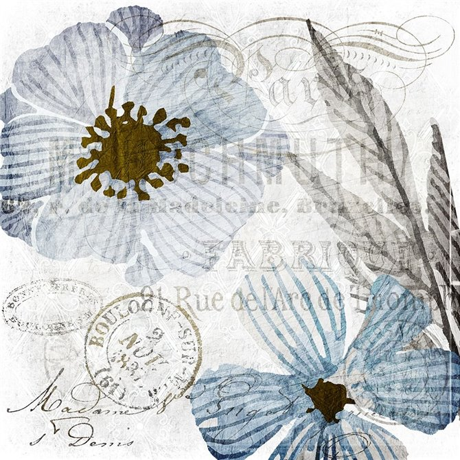 Soft Floral Blue 2