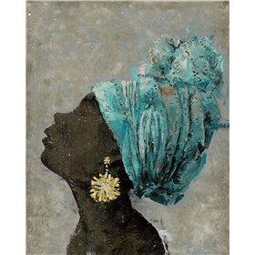 Profile of a Woman II (gold earring)
