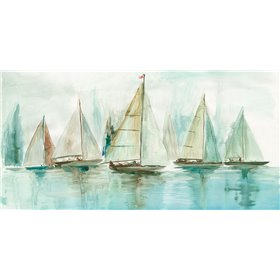 Blue Sailboats I