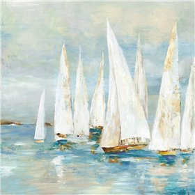 White Sailboats