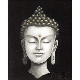 Serene Buddha I White Gold