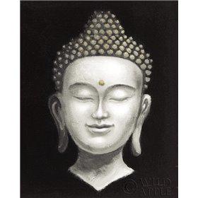 Serene Buddha II White Gold
