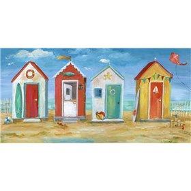 Bright Beach Huts
