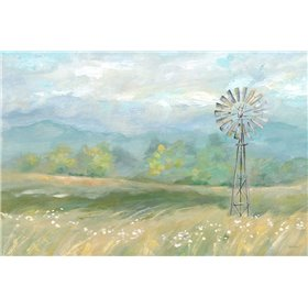 Country Meadow Windmill Landscape