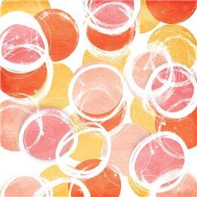 Circular Abstract Blush Orange