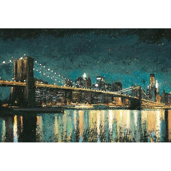 Bright City Lights Teal I