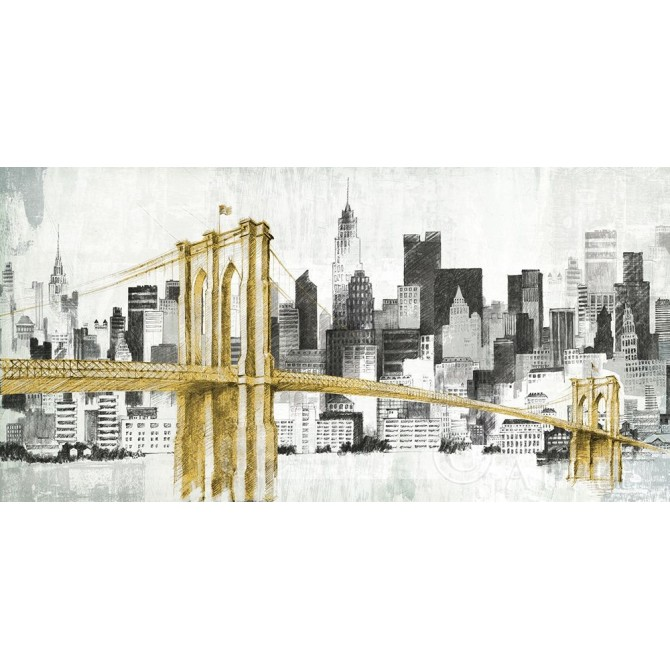 New York Skyline I Yellow Bridge no Words