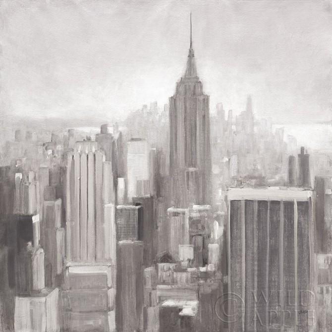 Manhattan in the Mist Gray