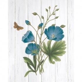 Botanical Bouquet on Wood III