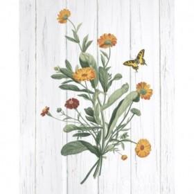 Botanical Bouquet on Wood IV