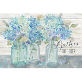 Farmhouse Hydrangeas in Mason Jars -Gather